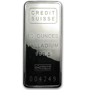 10 oz Palladium Bar prices